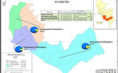 Inversión local por Presupuesto Participativo en Lima Sur: 2007